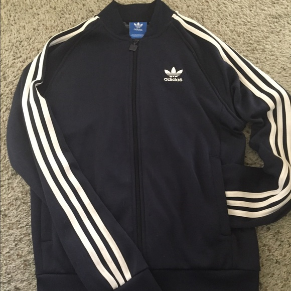 Navy Adidas Superstar jacket
